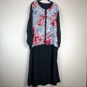 NWT Maggie Sweet Black Floral 3 Piece Outfit Sz 2X